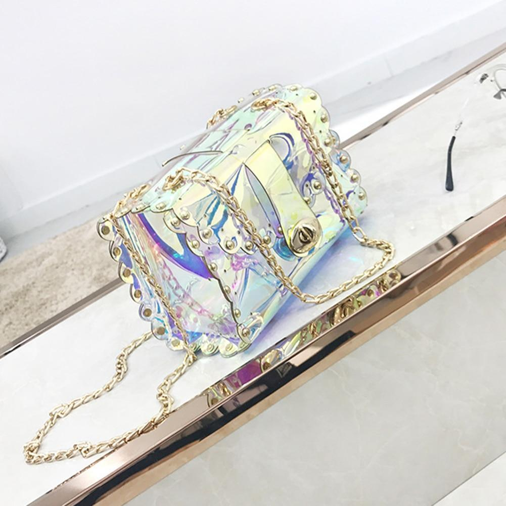 Transparent Mini Crossbody Bag Laser Holographic Shoulder Bags
