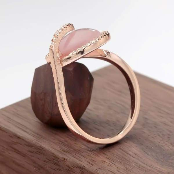 Unique Rose Gold Color Opal Ring Wedding And Engagement