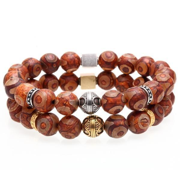 Vintage Natural Stone Unique Design Bead Bracelets for Men