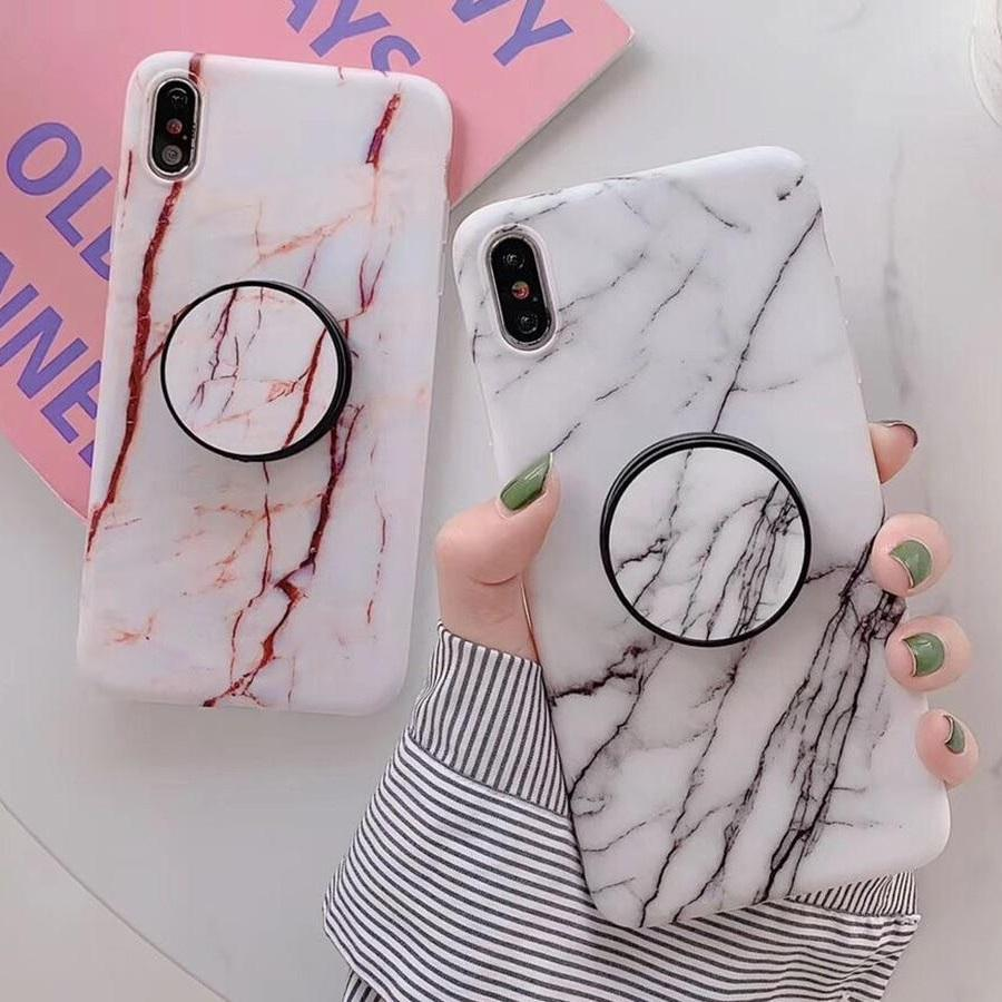 Vintage Phone Case Foldable Kickstand Marble iphone Cases