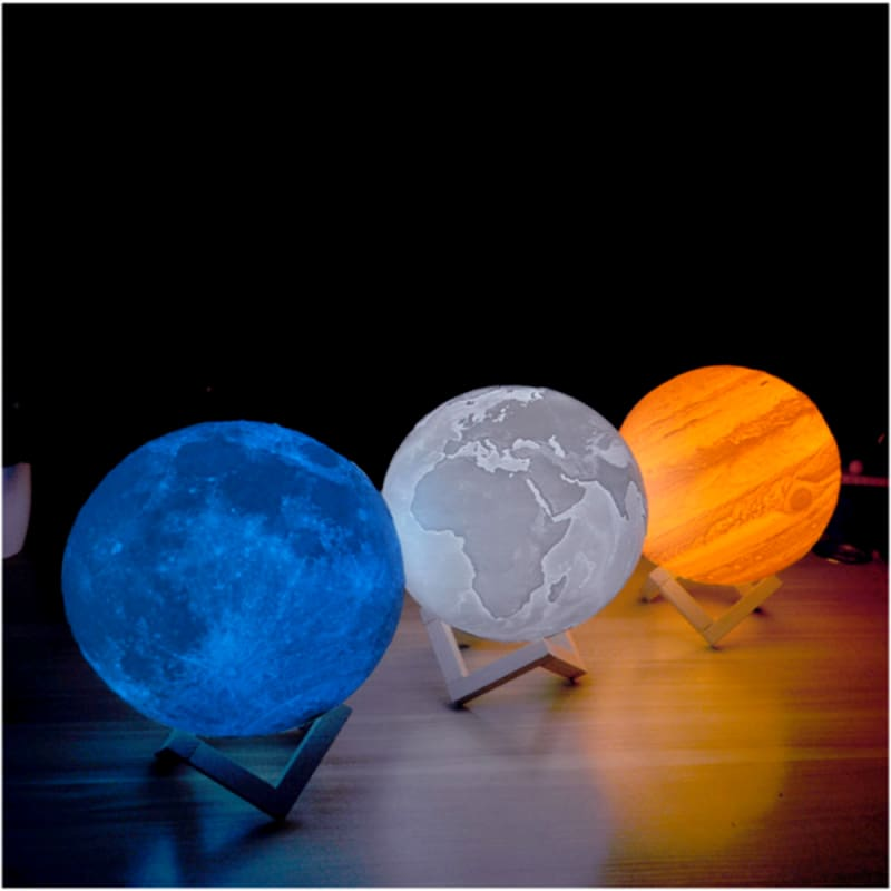 3D Printed LED Night Light Planet Jupiter Galaxy Color Lamp Home Decor - Our Comfy HQ