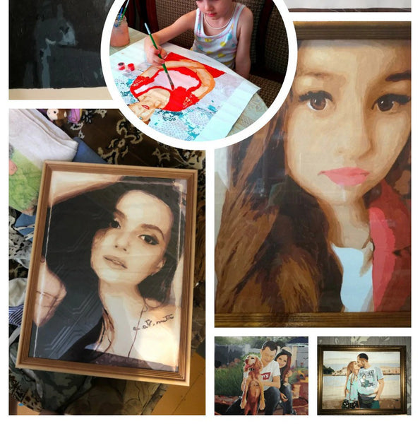 Customized DIY Oil Painting Personality Photo Canvas Drawing by Number - Our Comfy HQ