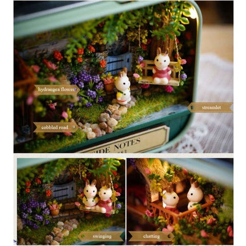 Countryside Notes 3D Wooden Miniature Doll House Box Theatre DIY Kits - Our Comfy HQ
