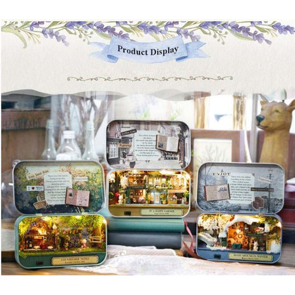 In a Happy Corner 3D Wooden Miniature Doll House Box Theatre DIY Kits - Our Comfy HQ