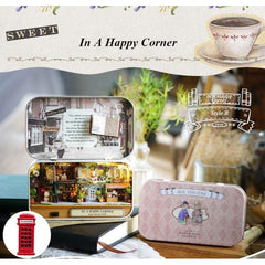 In a Happy Corner 3D Wooden Miniature Doll House Box Theatre DIY Kits