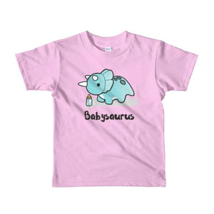 Jurassic Dinosaur Triceratops Babysaurus Short-Sleeve Kid T-Shirt Gift - Our Comfy HQ