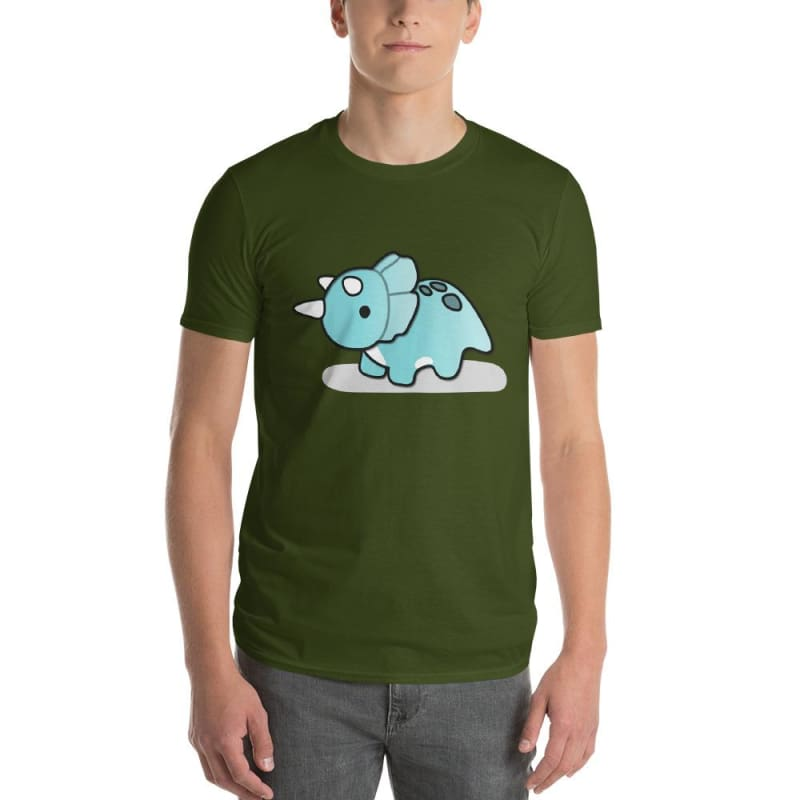 Jurassic Dinosaur Triceratops Basic Short-Sleeve Male T-Shirt Gifts - Our Comfy HQ