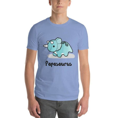 Jurassic Dinosaur Triceratops Papasaurus Short-Sleeve Dad T-Shirt Gift - Our Comfy HQ