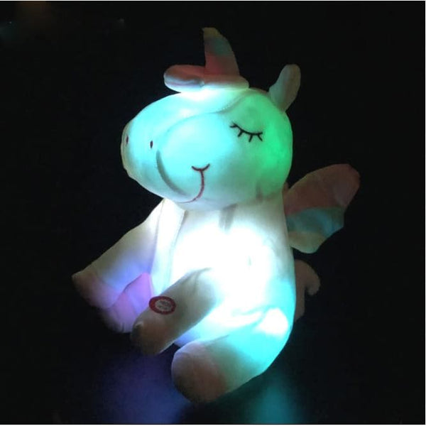 LED Unicorn Light Up Plush Toys Stuffed Animals Pony For Kids Toddlers - Our Comfy HQ