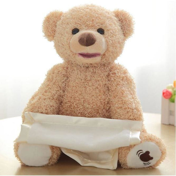 Peek A Boo Animated Singing Bear Stuffed Animals Plush Toys Baby Kid - Our Comfy HQ