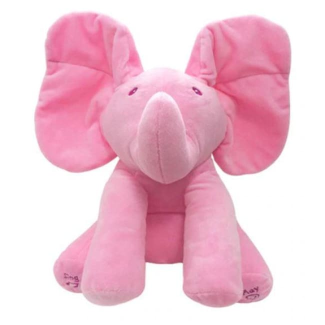 Peek A Boo Animated Singing Flappy Elephant Stuffed Plush Toy Baby Kid - Our Comfy HQ