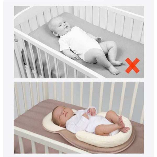 Portable Baby Crib, Cotton Bed, Infant Cot, Nursery Mattress & Pillow - Our Comfy HQ