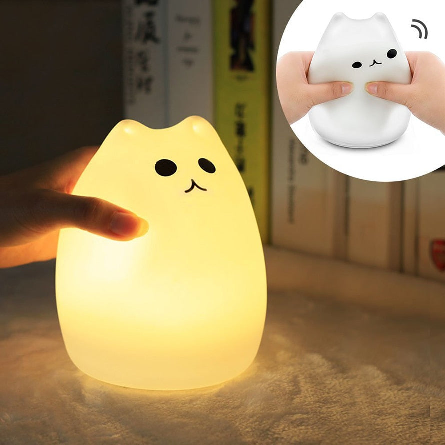 Cute Kitty Toddler Night Light Kids Usb Led Night Light Lamp - Our Comfy HQ