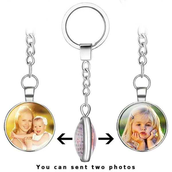 Double Side Personalized Custom Keychain Pendant Necklace Jewelry Gift - Our Comfy HQ