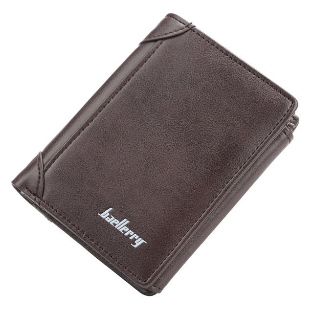 Photo Engraved Multi-card Holder Thin Vertical Men's Leather Wallet - Our Comfy HQ