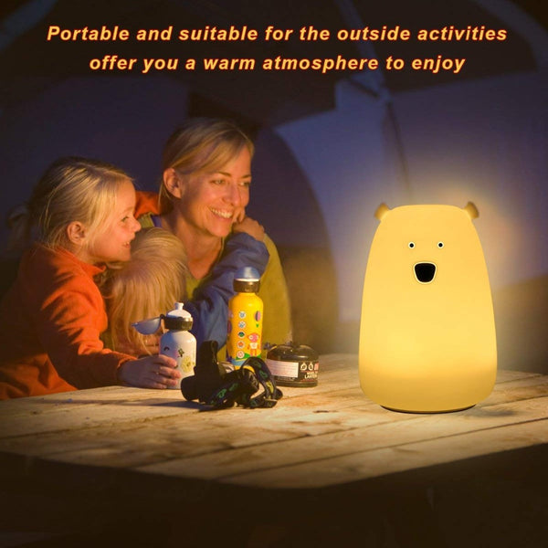 Colorful USB Charging Night Light Kids Table Lamp Gift Bedside Lamp