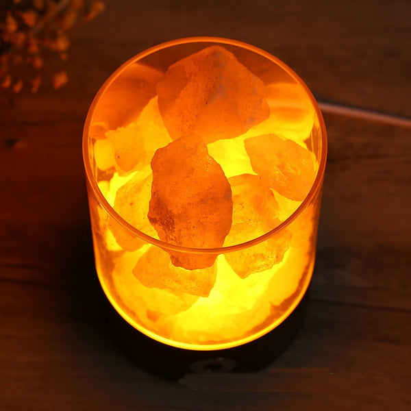 Led Himalayan Salt Lamp Air Purifier USB Night Light Room Air Cleaner - Our Comfy HQ