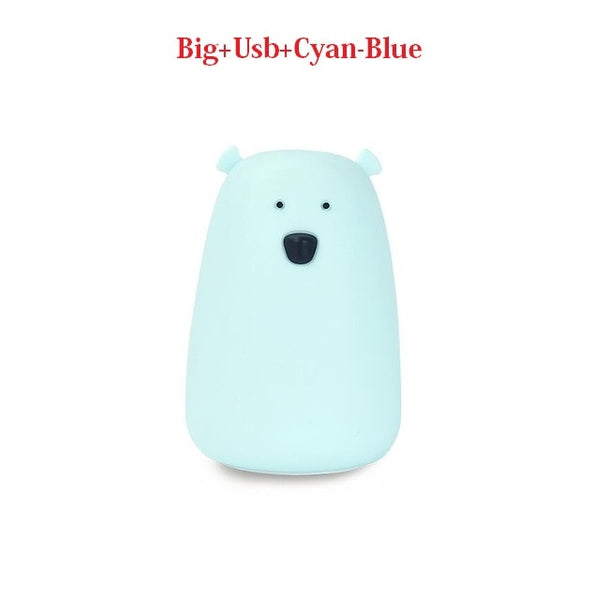Colorful USB Charging Night Light Kids Table Lamp Gift Bedside Lamp - Our Comfy HQ