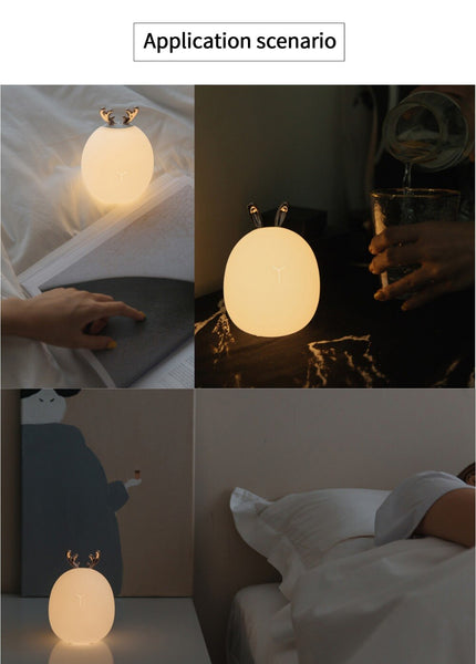 Cute Fawn Rabbit Children Led Night Lamp Home Decor Safety Lighting - Our Comfy HQ