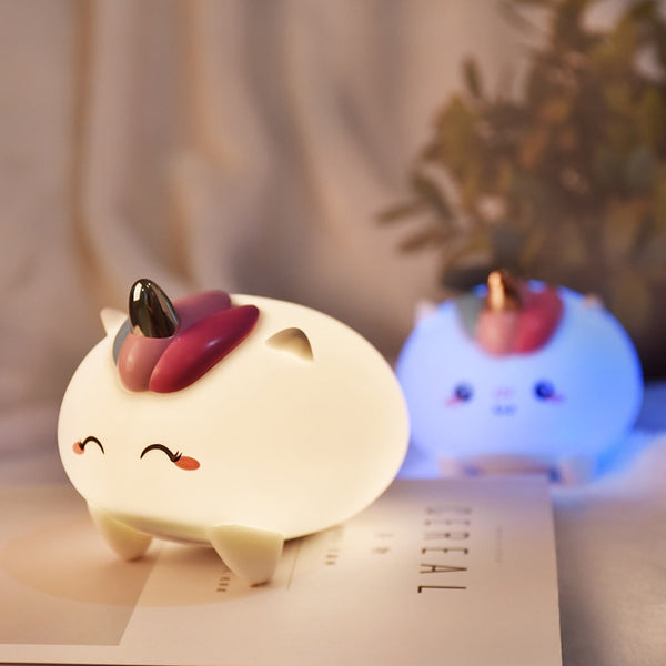 USB Rechargeable Led Unicorn Night Light Table Lamp Kids Night Lights - Our Comfy HQ