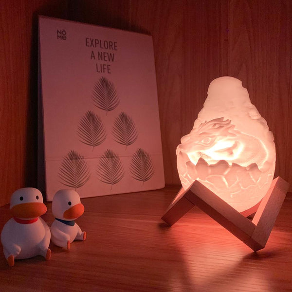 Rechargeable Hot Dragon Egg Night Light Home Decoration Room Light - Our Comfy HQ
