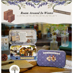 Roam Around in Winter 3D Wooden Miniature Doll House Box Theatre DIY Kits