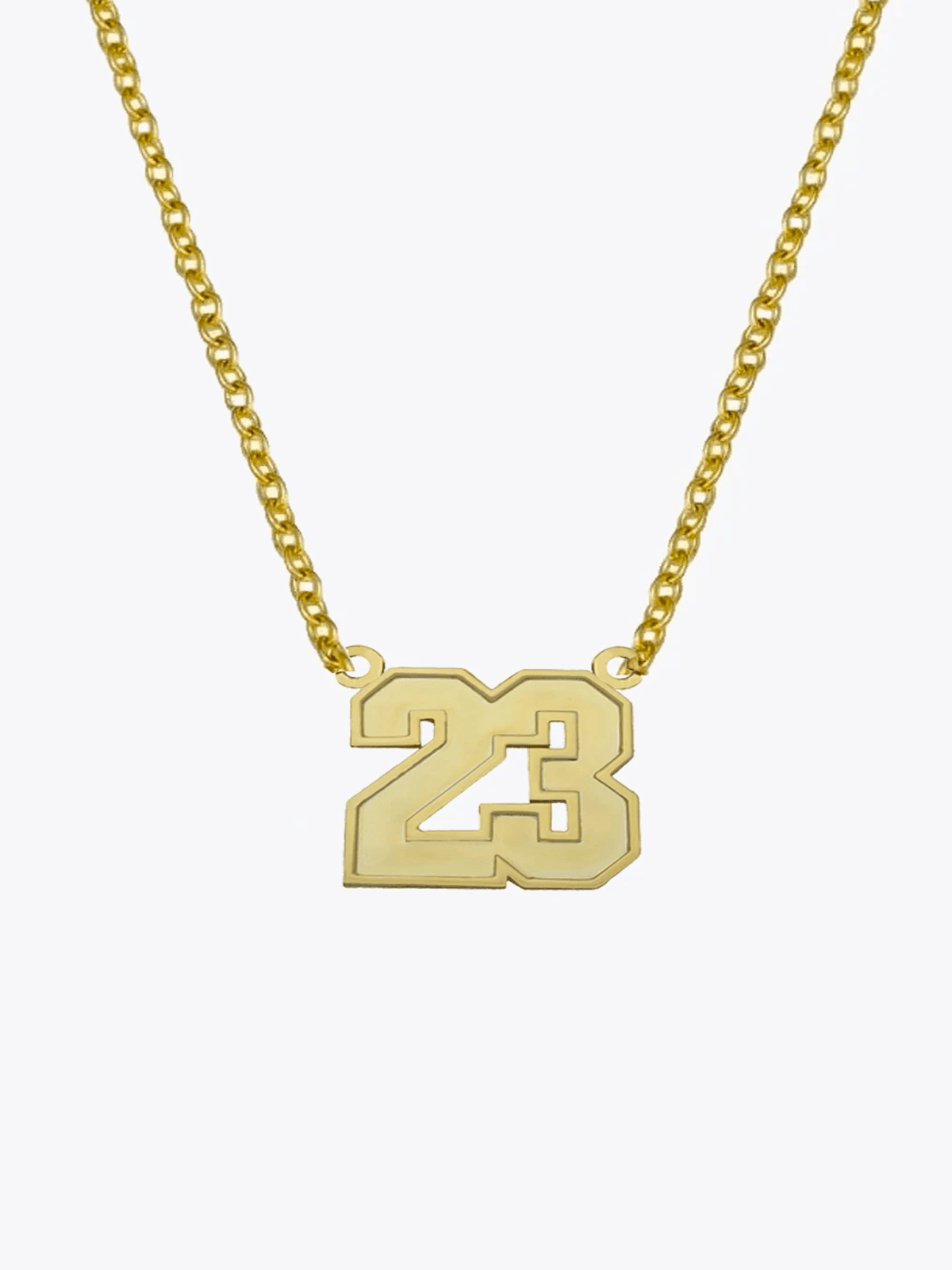 Varsity Number Necklace