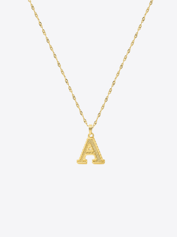 Block Letter Necklace - STORMS JEWELRY