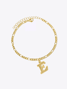 Block Letter Anklet - STORMS JEWELRY