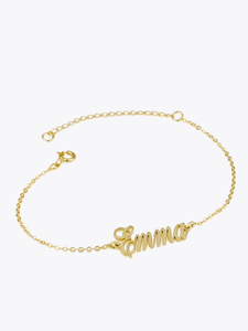 Script Name Bracelet - STORMS JEWELRY
