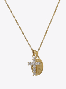 Cross & Coin Necklace - STORMS JEWELRY