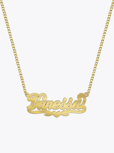 New York Script Necklace