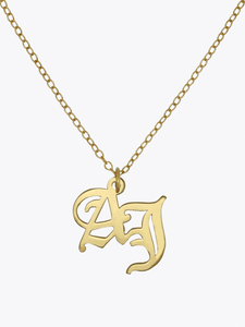 Old English Double Letter Necklace