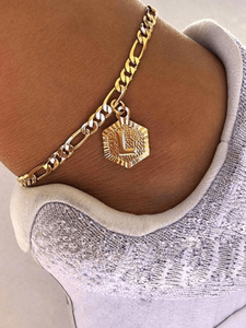 Hexagon Charm Anklet - STORMS JEWELRY