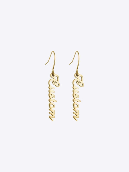 The Script Drop Earrings