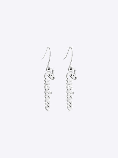 Script Drop Earrings - STORMS JEWELRY