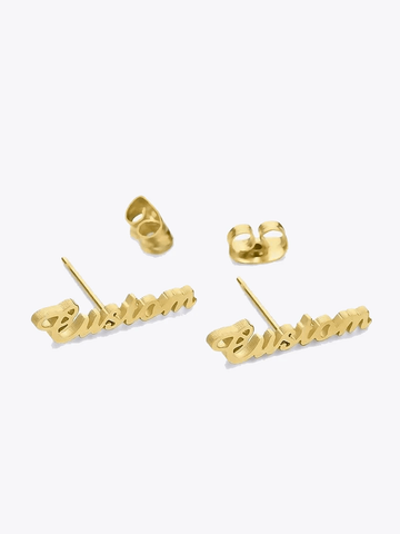 Script Name Studs - STORMS JEWELRY