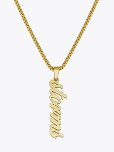 Script Vertical Necklace