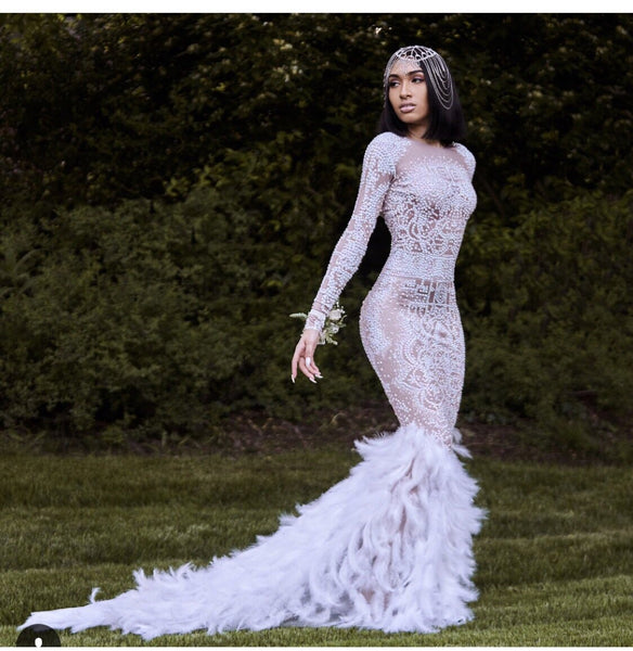 Ice queen wedding dress