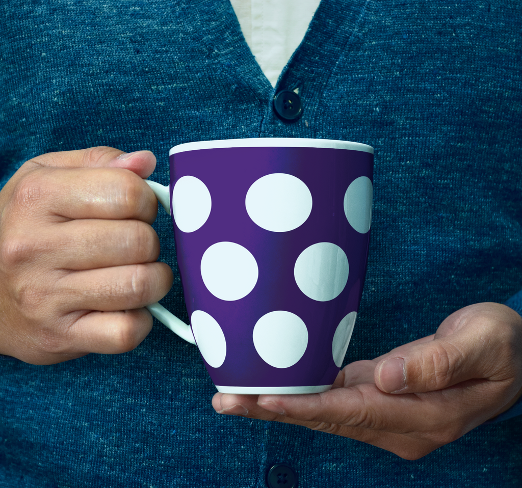 Purple Spotted Mug
