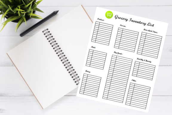 Grocery Inventory List Printable The Little Frugal House Shop