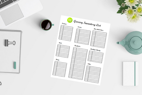 Grocery Inventory List Printable