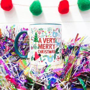 Very Merry Christmas 11oz Mug Green