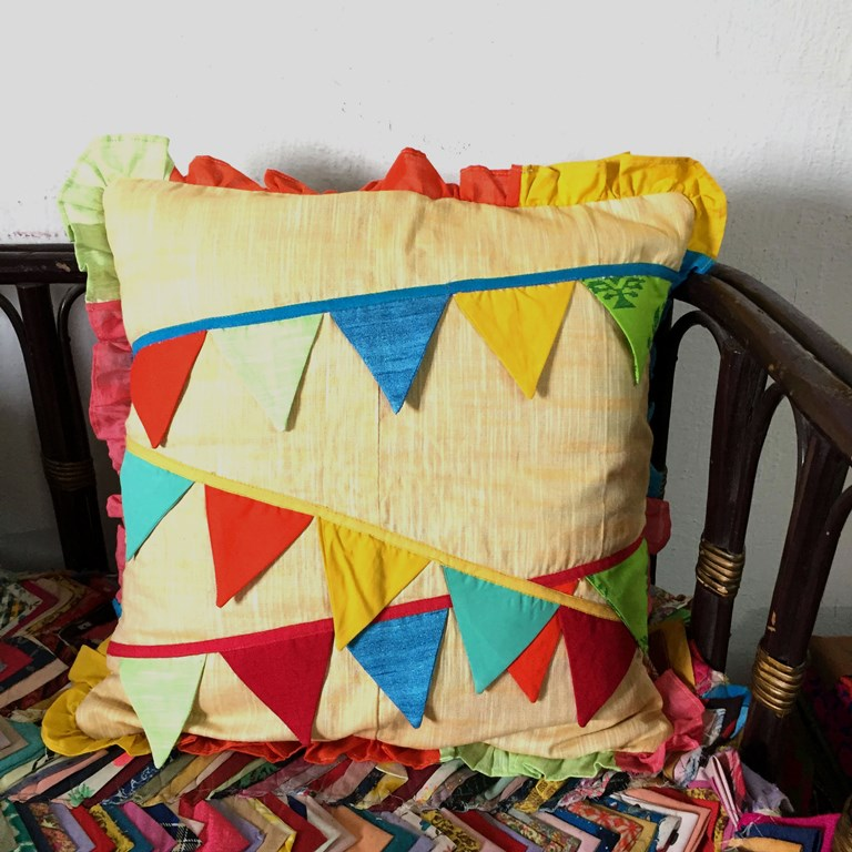 Colourful Buntings Cushions