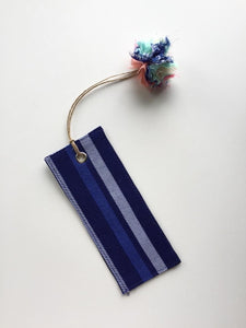 Printed Bookmark- Blue Stripe