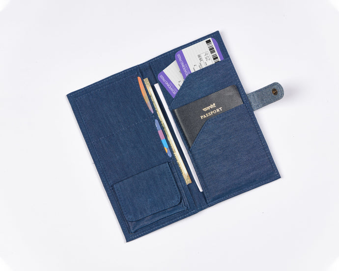Denim Travel Wallet