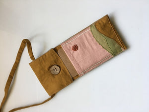 Upcycled Hand Embroidered Phone Sling