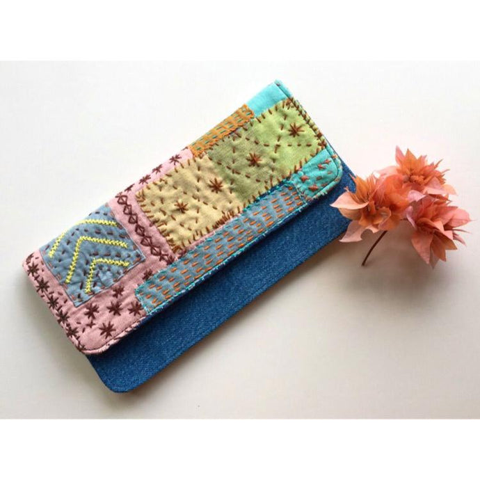 Mystique Magic Sashiko Denim Wallet
