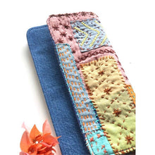 Mystique Magic' Sashiko Denim Wallet