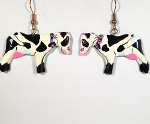 Betsy Cow Earrings Handmade by Stefano Bali Artisans Factory Prices Collectible